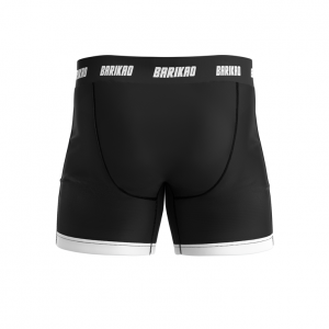 Barikao Men's Compression Shorts CX1 Black/White back