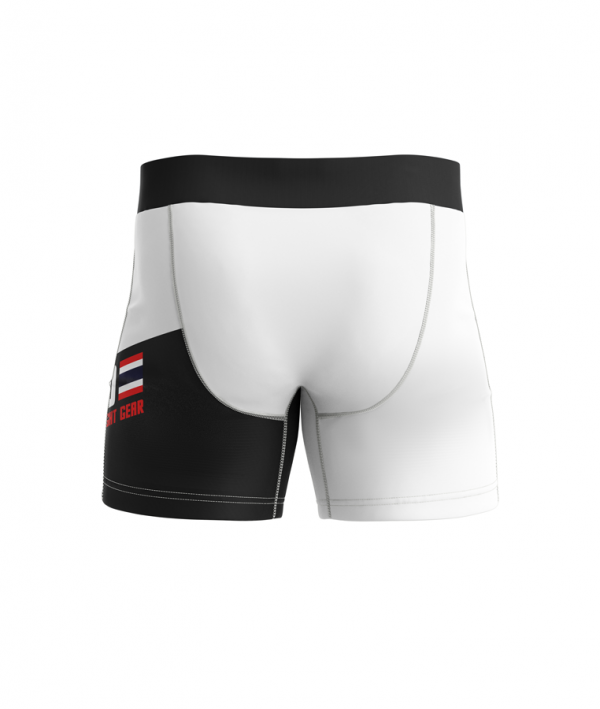 Barikao Compression Short Pattaya White Black back